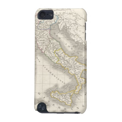 Vintage old world Italy map Italian foodie iPod Touch (5th Generation) Cases