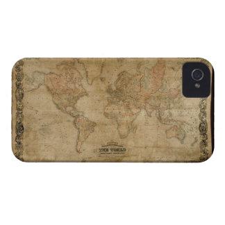 Vintage Old World Map Design iPhone 4 Cover