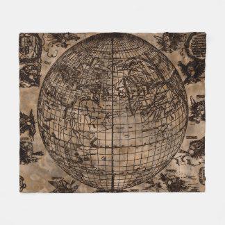 Vintage Old World Map Fleece Blanket