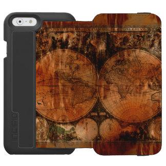 Vintage Old World Map History-buff Designer Incipio Watson™ iPhone 6 Wallet Case