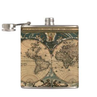 Vintage Old World Map History-lover Design Hip Flask