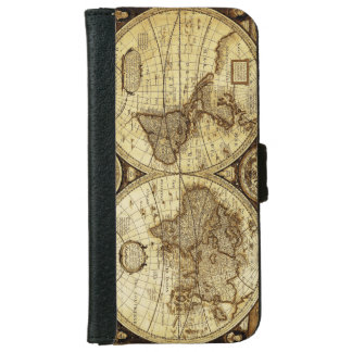 Vintage Old World Map iPhone 6 Wallet Case