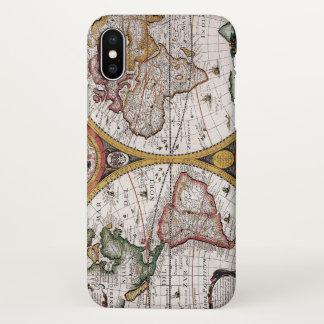 vintage old world map iPhone x case