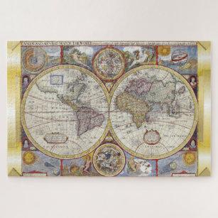 Old world map jigsaw puzzles zazzle vintage old world map jigsaw puzzle gumiabroncs Images