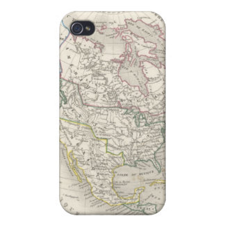 Vintage old world map - The Americas Case For iPhone 4