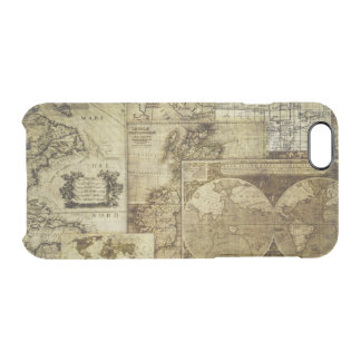 Vintage old world Maps Antique map Clear iPhone 6/6S Case