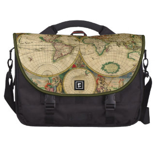 Vintage old world Maps Antique map Laptop Bags