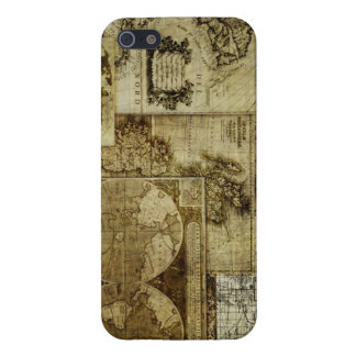 Vintage old world Maps Antique maps iPhone 5 Cases