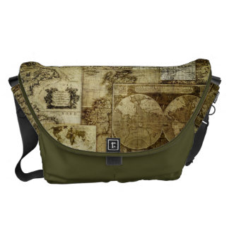 Vintage Old world maps Commuter Bags