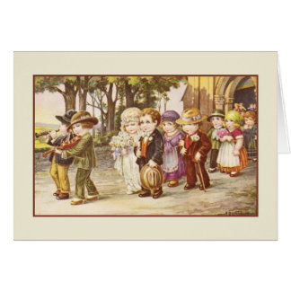 Vintage Old World Wedding Greeting Card