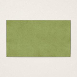 Vintage Olive Green Paper Parchment Background Business Card