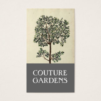 Vintage Olive Tree Gardener Business Card