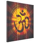 Vintage Om Symbol Stretched Canvas Print