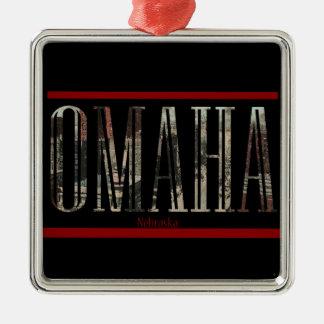 Vintage Omaha Postcard Design Metal Ornament