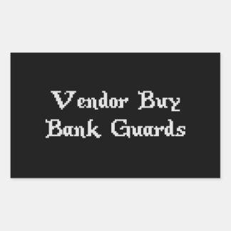 Vintage Online Gaming Vendor Buy Bank Guards Rectangular Sticker