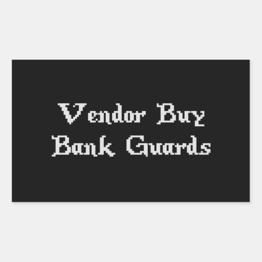 Vintage Online Gaming Vendor Buy Bank Guards Rectangle Stickers