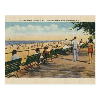 Vintage Ontario Beach Park Rochester Post Card