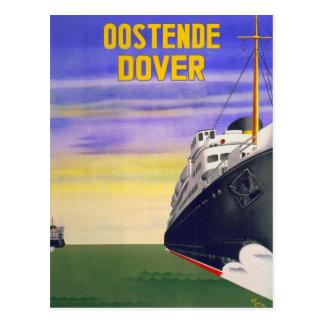 Vintage Oostende Dover Postcard