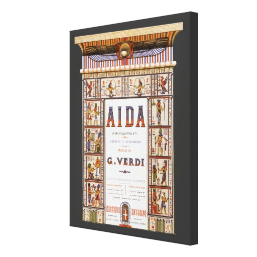 Vintage Opera Music, Egyptian Aida by Verdi Gallery Wrapped Canvas