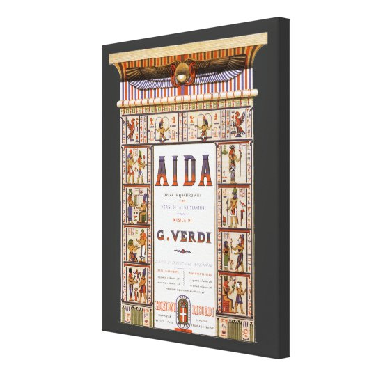 Vintage Opera Music, Egyptian Aida by Verdi Canvas Print
