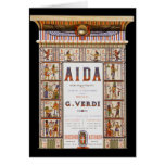 Vintage Opera Music, Egyptian Aida by Verdi Greeting Cards