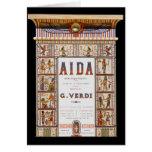 Vintage Opera Music, Egyptian Aida by Verdi Greeting Cards
