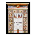 Vintage Opera Music, Egyptian Aida by Verdi Post Cards