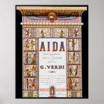 Vintage Opera Music, Egyptian Aida by Verdi Print