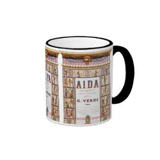 Vintage Opera Music, Egyptian Aida by Verdi Ringer Mug
