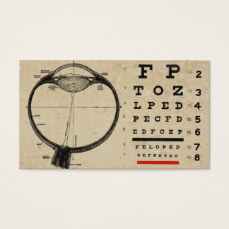 Vintage Ophthamologist Business Cards Eye Chart