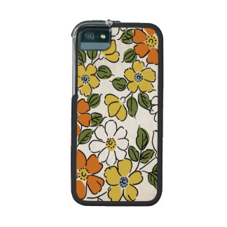 Vintage Orange and Yellow Floral Wedding Cover For iPhone 5