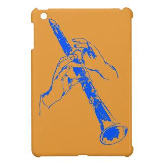 Vintage Orange Blue Hands Clarinet Benny Goodman iPad Mini Cover