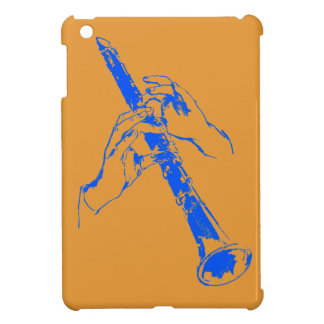 Vintage Orange Blue Hands Clarinet Benny Goodman iPad Mini Covers