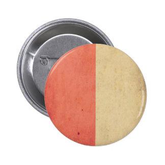 Vintage Orange Cream Bicolor Grunge Pattern Pinback Buttons