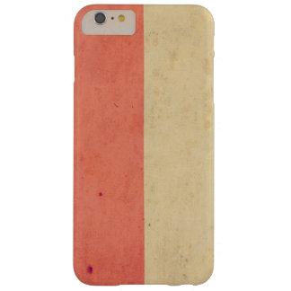 Vintage Orange Cream Bicolor Grunge Pattern Barely There iPhone 6 Plus Case