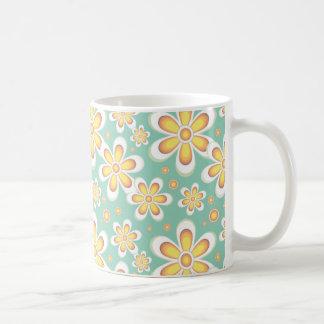Vintage orange flowers coffee mug