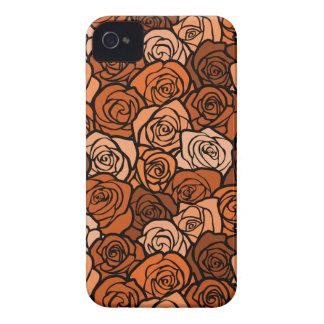 Vintage orange roses BlackBerry Bold Case