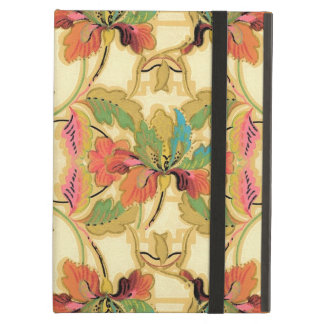 Vintage Orange Turquoise Floral Wallpaper Pattern Cover For iPad Air