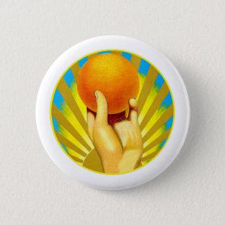Vintage Oranges Orange Sunshine Citrus Fruit 6 Cm Round Badge