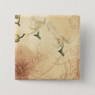 Vintage Orchid Background 15 Cm Square Badge