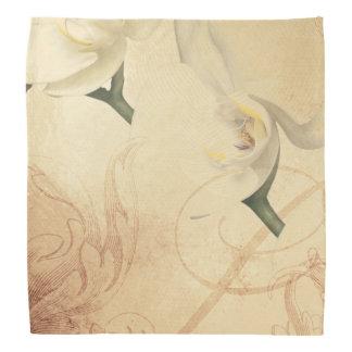 Vintage Orchid Background Bandana