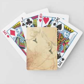 Vintage Orchid Background Bicycle Playing Cards