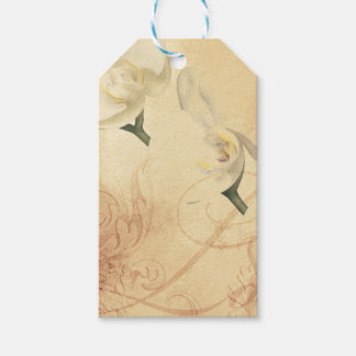 Vintage Orchid Background Gift Tags