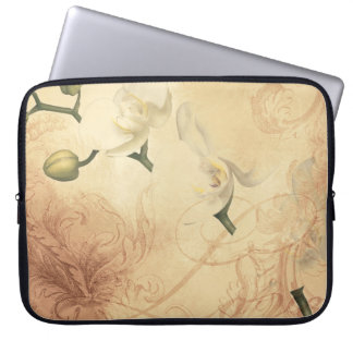 Vintage Orchid Background Laptop Sleeve