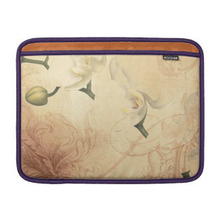 Vintage Orchid Background MacBook Sleeve
