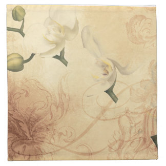 Vintage Orchid Background Napkin
