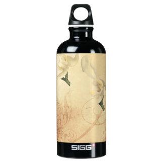 Vintage Orchid Background Water Bottle