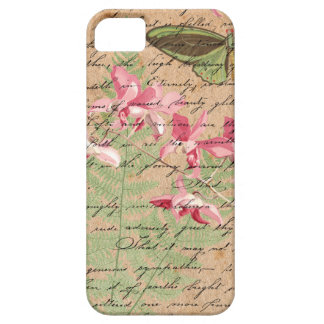 Vintage Orchid Fern Collage Case For The iPhone 5