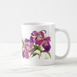 Vintage Orchid Flowers Mug
