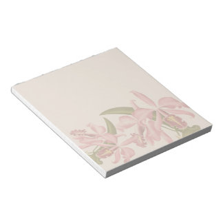 Vintage Orchid Flowers Notepad
